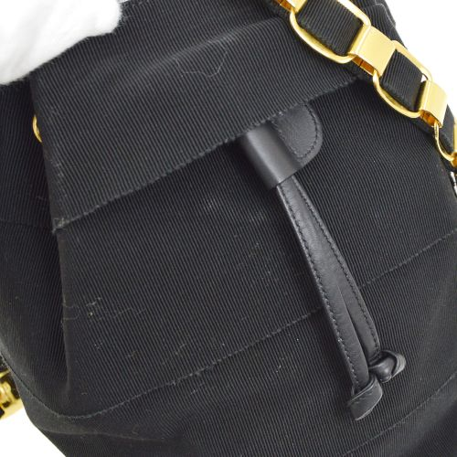 Salvatore Ferragamo Vara Chain Backpack Bag Black