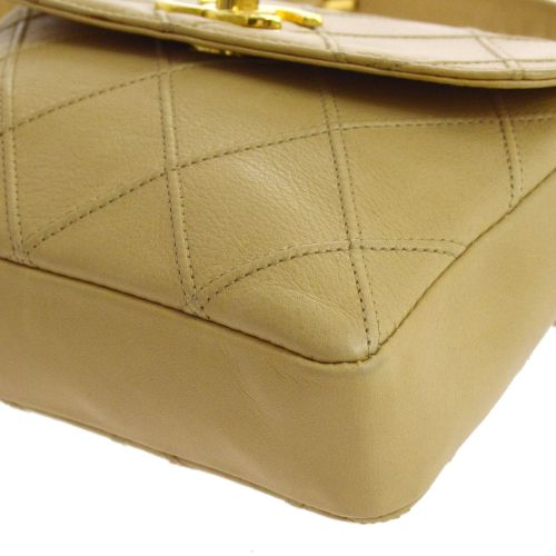 CHANEL Cosmos Line Quilted Chain Bum Bag Beige