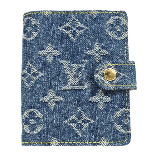LOUIS VUITTON AGENDA MINI NOTEBOOK COVER MONOGRAM DENIM R21044