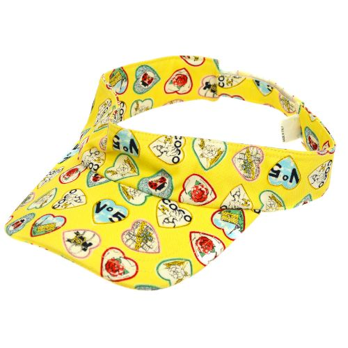 CHANEL Valentine Pattern Sun Visor Yellow