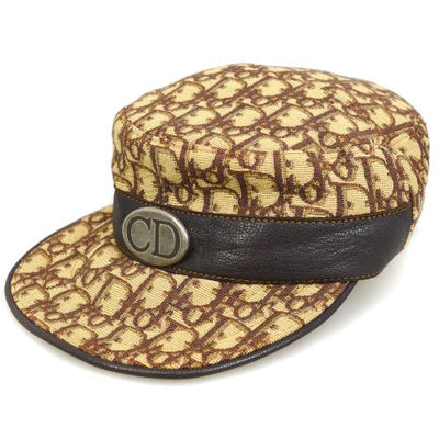 Christian Dior Trotter Pattern Hunting Cap Brown