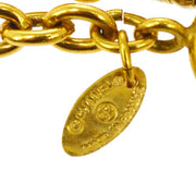 CHANEL Quilted CC Logos Necklace Gold