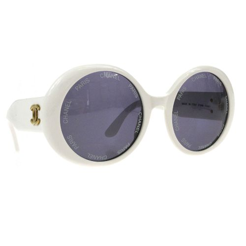 CHANEL Sunglasses Eye Wear White