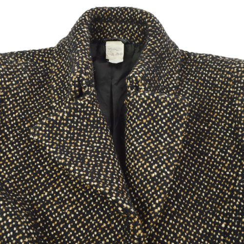 GIANNI VERSACE Long Sleeve Coat Jacket Black