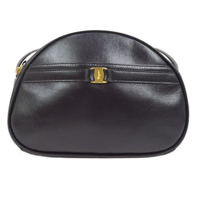 Salvatore Ferragamo Vara Shoulder Bag Black