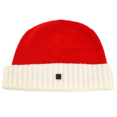 CHANEL Sports Line CC Logos Knitted Cap Red