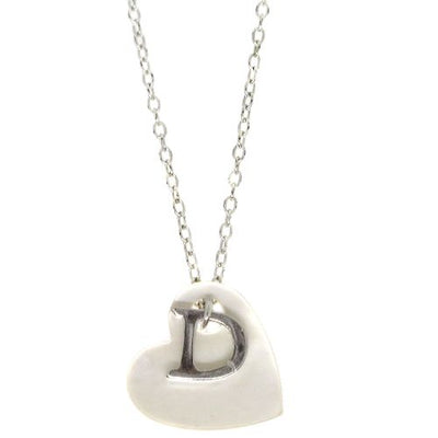 Christian Dior Heart Silver Chain Necklace Pendant