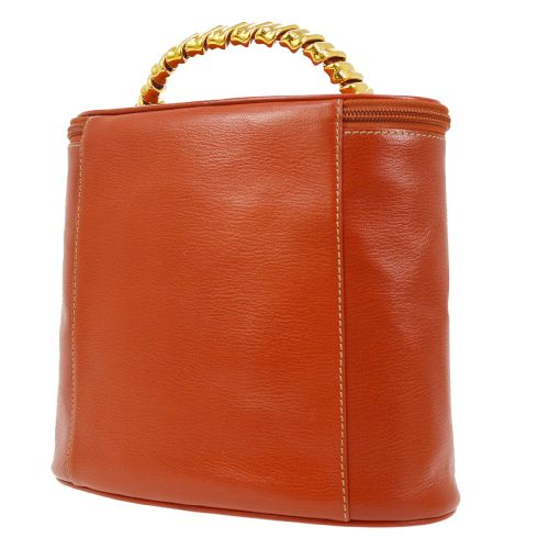 LOEWE VELAZQUEZ Vanity Hand Bag Red Combi Leather