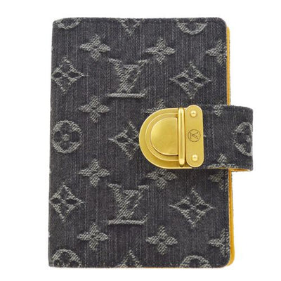 LOUIS VUITTON AGENDA PM NOTEBOOK COVER MONOGRAM DENIM R21038