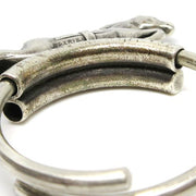 HERMES Horse Key Ring Holder Silver