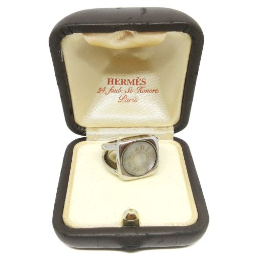 HERMES BIJOUTERIE FANTAISIE Ring Silver Size #6.5