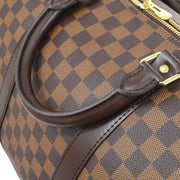 LOUIS VUITTON KEEPALL BANDOULIERE 55 2WAY TRAVEL BAG DAMIER N41414