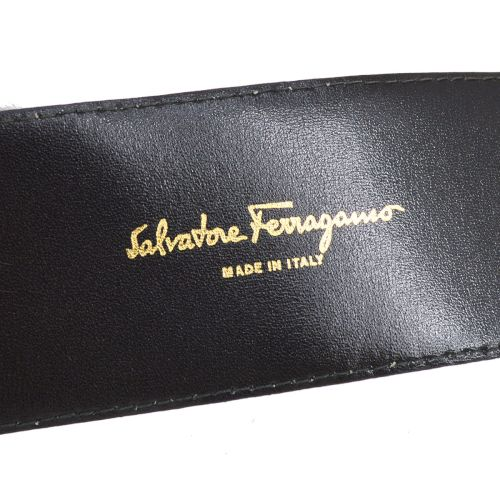 Salvatore Ferragamo Shaking Charm Waist Belt Black