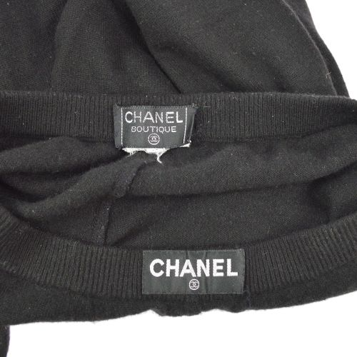 CHANEL Cape Pants Set Up Black