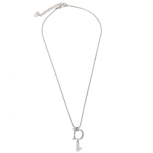 Christian Dior Key Charm Silver Chain Pendant Necklace