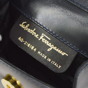 Salvatore Ferragamo Vara Bow Shoulder Bag Pochette Navy
