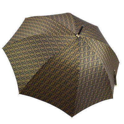 FENDI Zucca Pattern Umbrella Brown