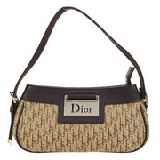 Christian Dior Street Chic Trotter Pattern Hand Bag Brown