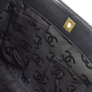 CHANEL CC Logos Hand Tote Bag Black