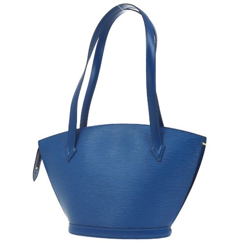 LOUIS VUITTON SAINT JACQUES POIGNEES LONG SHOULDER TOTE BAG EPI BLUE M52335