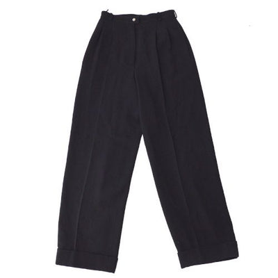 CHANEL CC Logos Trousers Pants Black #38 95A