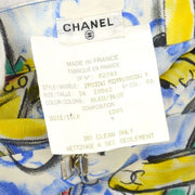 CHANEL Airplane Pattern Short Pants Light Blue #34