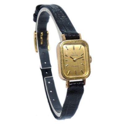 OMEGA Geneve Women Hand-Rolled Wristwatch Watch Gold Black