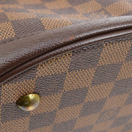 LOUIS VUITTON MALLE PM BUCKET SHOULDER TOTE BAG DAMIER EBENE N42240