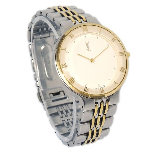 Yves Saint Laurent Quartz Wristwatch Watch Gold Silver