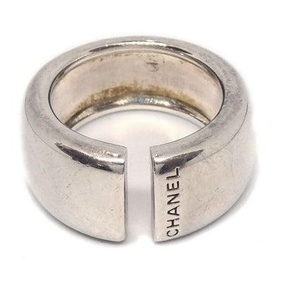 CHANEL CC Logos Ring Silver SV925 #5.5