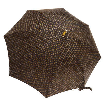 LOUIS VUITTON Monogram Umbrella Parasol Brown