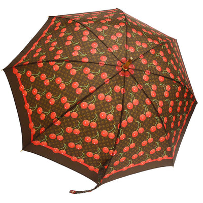 LOUIS VUITTON PARAPLUIE Umbrella Monogram Cherry Brown Polyester M70125