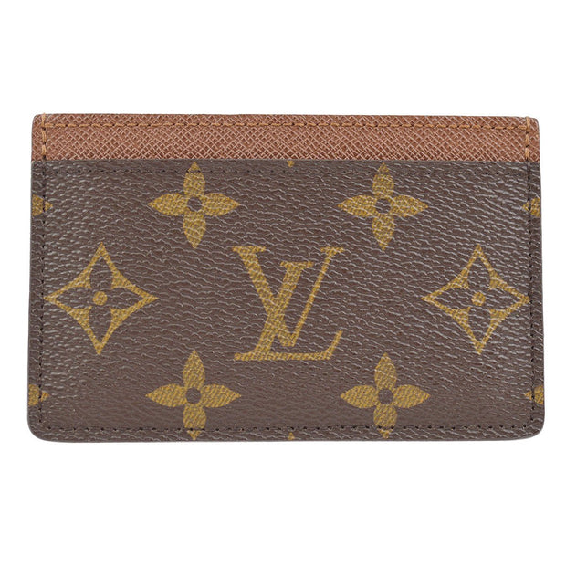 LOUIS VUITTON PORTE CARTES SIMPLE CARD CASE PURSE MONOGRAM M61733