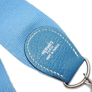HERMES Shoulder Strap For Evelyn Light Blue