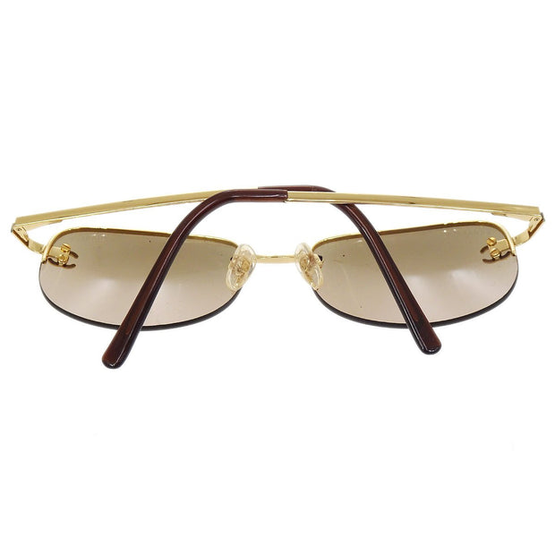 CHANEL CC Logos Sunglasses Eye Wear Brown Plastic