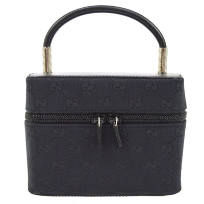 GUCCI GG Pattern Cosmetic Vanity Hand Bag Pouch Black