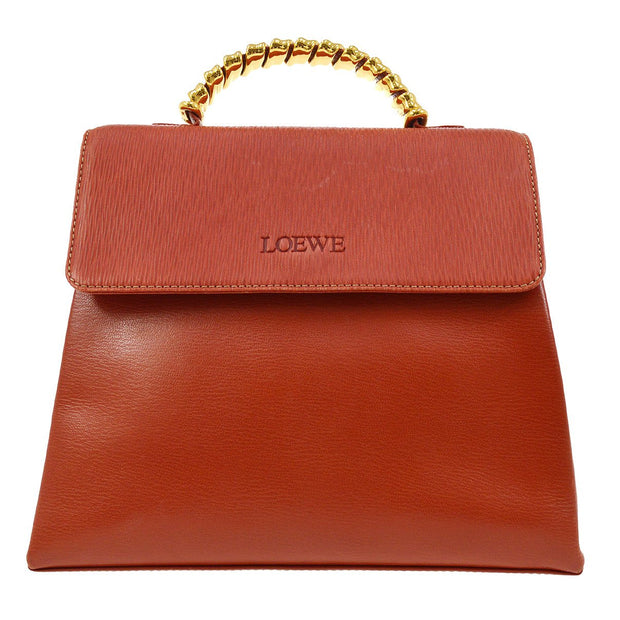 LOEWE VELAZQUEZ 2way Hand Bag Vermilion Combi Leather