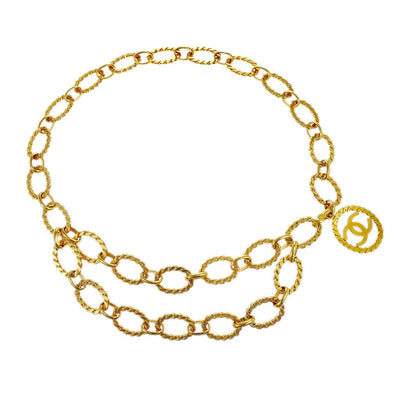 CHANEL CC Logos Charm Gold Chain Belt