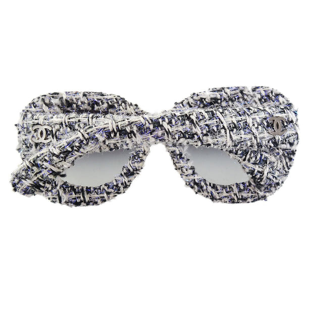 CHANEL CC Logos Tweed Sunglasses Eye Wear