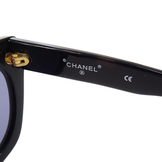 CHANEL Sunglasses Eye Wear Black