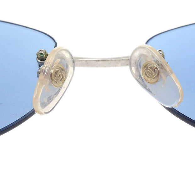 CHANEL CC Logos Sunglasses Eye Wear Blue Plastic