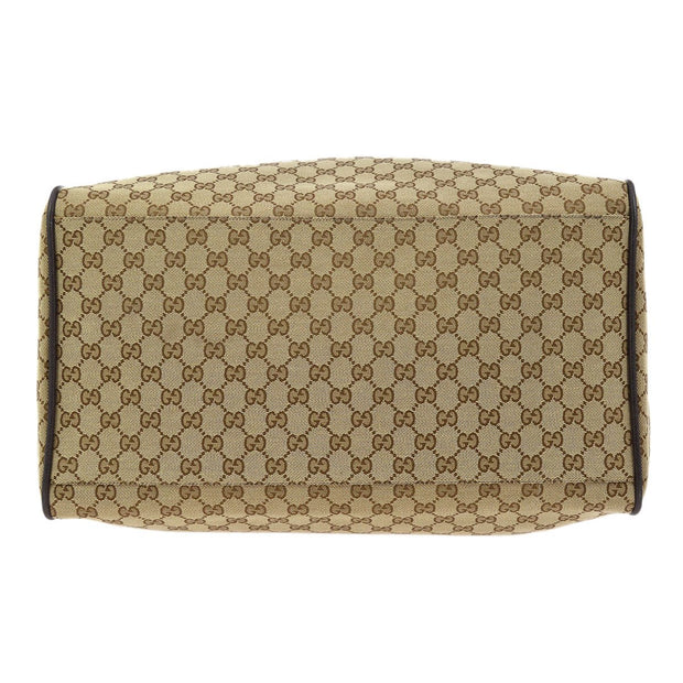 GUCCI GG Pattern Shelly Line Travel Shoulder Bag Brown
