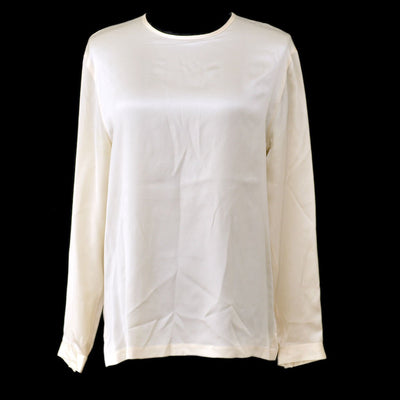 CHANEL #40 CC Logos Long Sleeve Tops Shirt Ivory