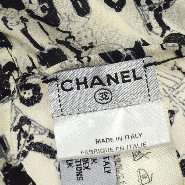 CHANEL #40 CC Mademoiselle Tops White Black 03P