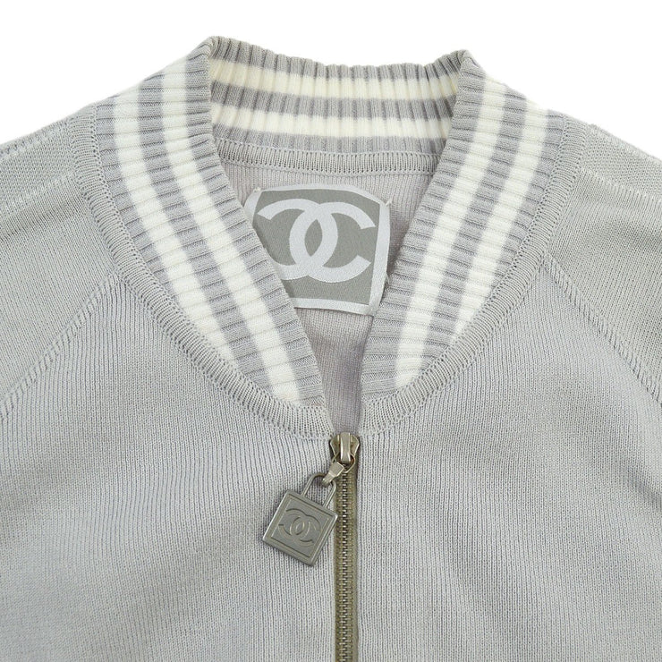 CHANEL #36 CC Sports Line Zip UP Long Sleeve Jacket Light Purple 04P
