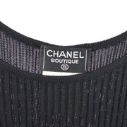 CHANEL #38 CC Sleeveless One Piece Dress Black 97P