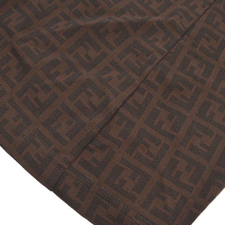 FENDI Zucca Pattern Above The Knee Skirt Brown
