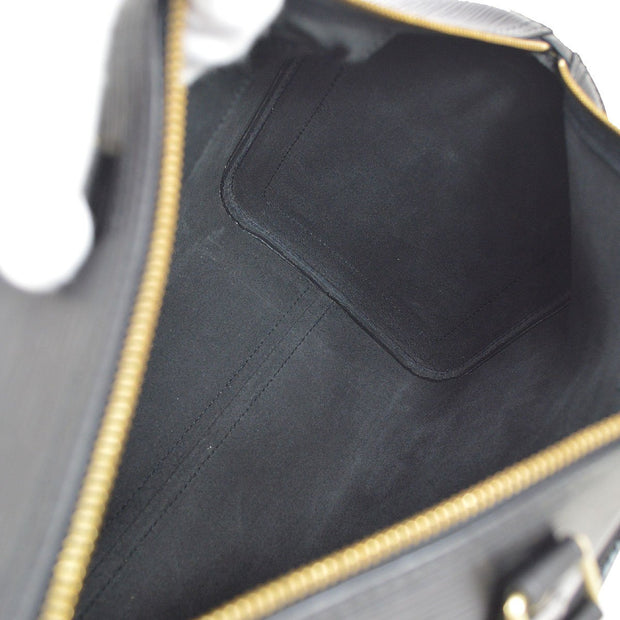 LOUIS VUITTON SPEEDY 35 HAND BAG BLACK EPI M42992