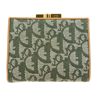 Christian Dior Trotter Pattern Bifold Wallet Purse