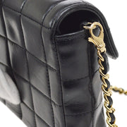 CHANEL Choco Bar CC Single Chain Shoulder Bag Black